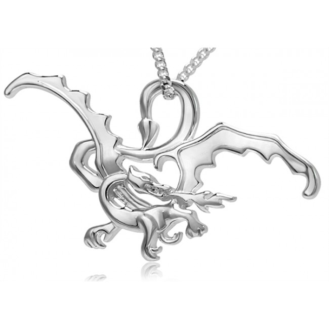 The Hobbit Smaug The Magnificent Silver Pendant