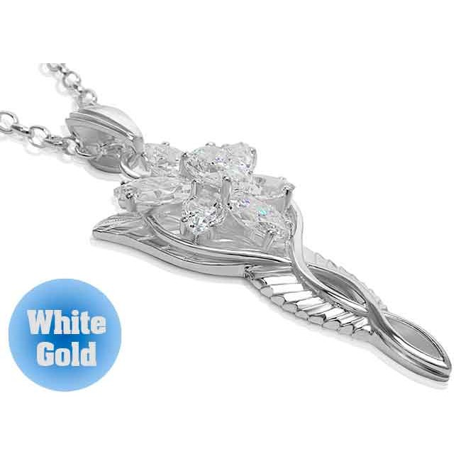 Arwen Evenstar Necklace White Gold - Lord of the Rings