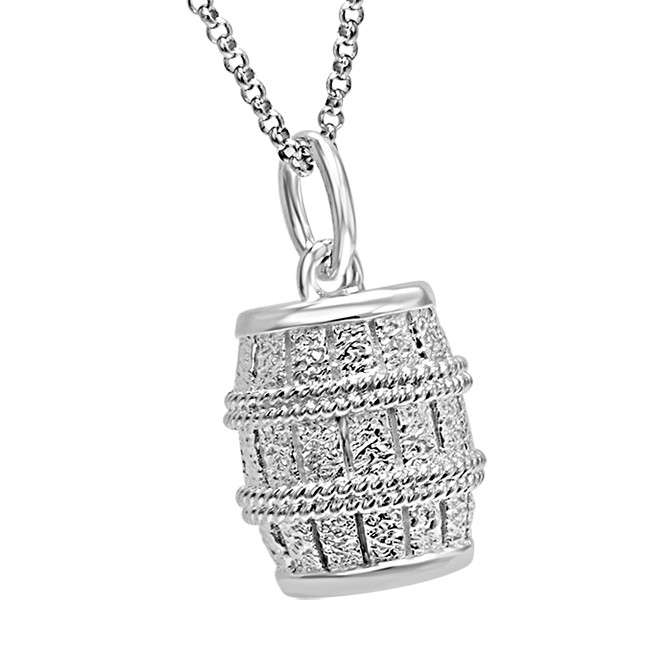 The Hobbit The Desolation of Smaug Barrel Silver Pendant