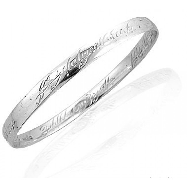 The Official Lord of the Rings Silver Bangle