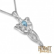 Arwen Evenstar Pendant Topaz Sterling Silver - Lord of the Rings