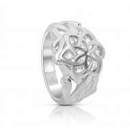 Galadriel's Nenya Silver Ring of Adamant - Lord of the Rings Jewelry