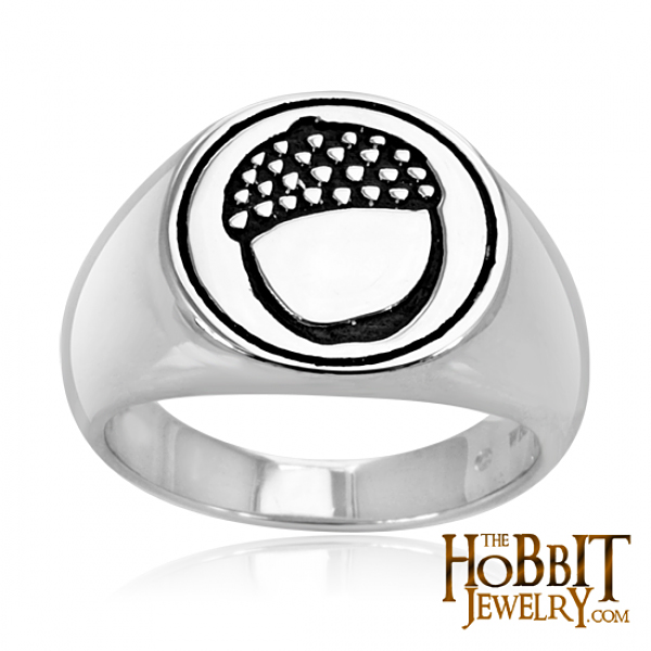"The Hobbit  Acorn Signet Ring - Lord of the Rings Ring Jewellery - The  Official Licensed The Hobbit ""Acorn Signet Ring"" handcrafted here in Middle Earth New Zealand home The Lord of the Rings and Hobbit Trilogy."