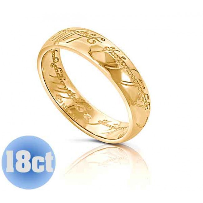 18K LOTR Gold One Ring Wedding Band | THE ONE RING   The One Ring