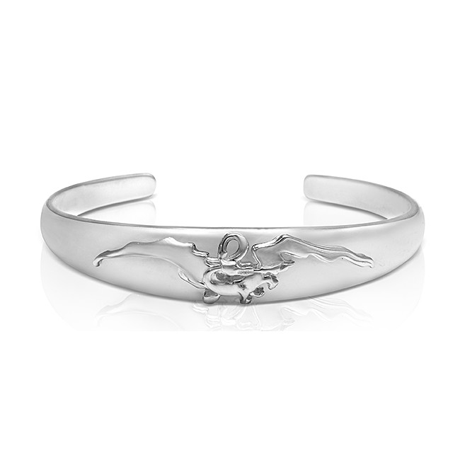 Official The Hobbit Smaug Silver Cuff Bangle