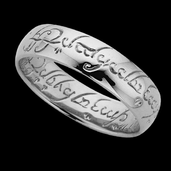 Lord of the Rings One Ring Silver Engraved - Direct from Middle Earth Jeweller - Three Rings for the Elven-kings under the sky,Seven for the Dwarf-lords in their halls of stone,Nine for Mortal Men doomed to die,One for the Dark Lor