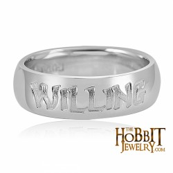 Official Hobbit Willing Heart Friendship Ring - Lord of the Rings Ring Jewellery - Our Friendship Rings are rounded inside and out like a comfort fit band. Rings are 6mm in width. Made in 925 Sterling Silver and engraved o