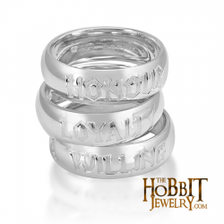 The Hobbit LOYALTY Friendship Ring - Lord of the Rings Ring Jewellery -  Our Hobbit Friendship Rings crafted here by the official ring maker in middles earth are  rounded inside and out like a comfort fit band