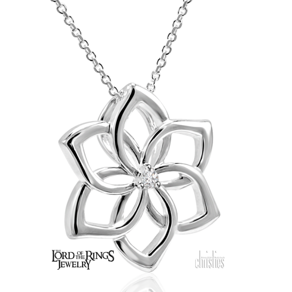 The Hobbit Galadriel Flower Pendant - Lord of the Rings Ring Jewellery - Galadriel was the co-ruler and Lady of Lothlórien along with Lord Celeborn.Cate Blanchett portrays Galadriel in The Lord of the Rings and The H