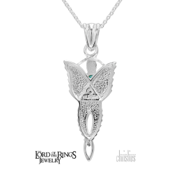 Arwen Evenstar Pendant Topaz (Small) - Lord of the Rings Ring Jewellery - The Evenstar ...and she took a white gem like a star that lay upon her breast hanging upon a silver chain... The Evenstar pendant was given to Ar