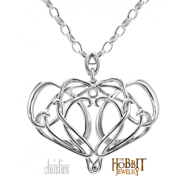"""Official The Hobbit Elrond Pendant - Lord of the Rings Ring Jewellery - Elrond was Lord of Rivendell, one of the mighty rulers of old that remained in Middle-earth in its Third Age The Official """"The Hobbit"""" Elrond"""