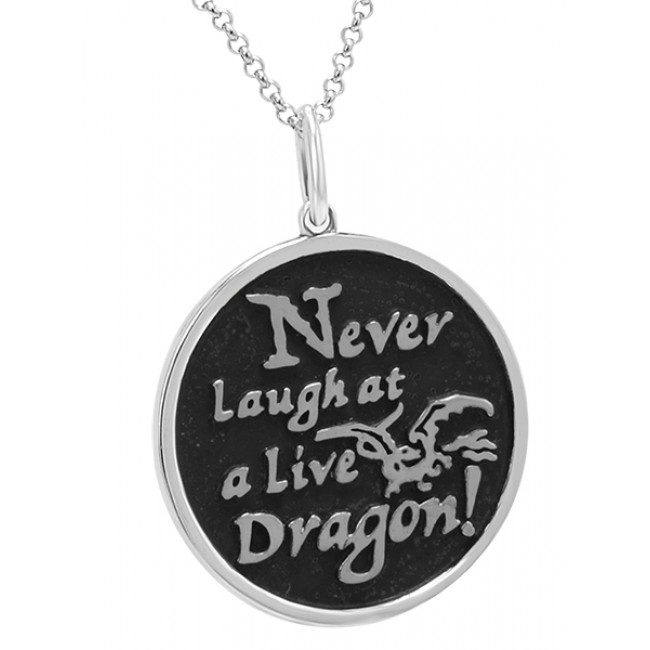 Official The Hobbit Silver Smaug Pendant